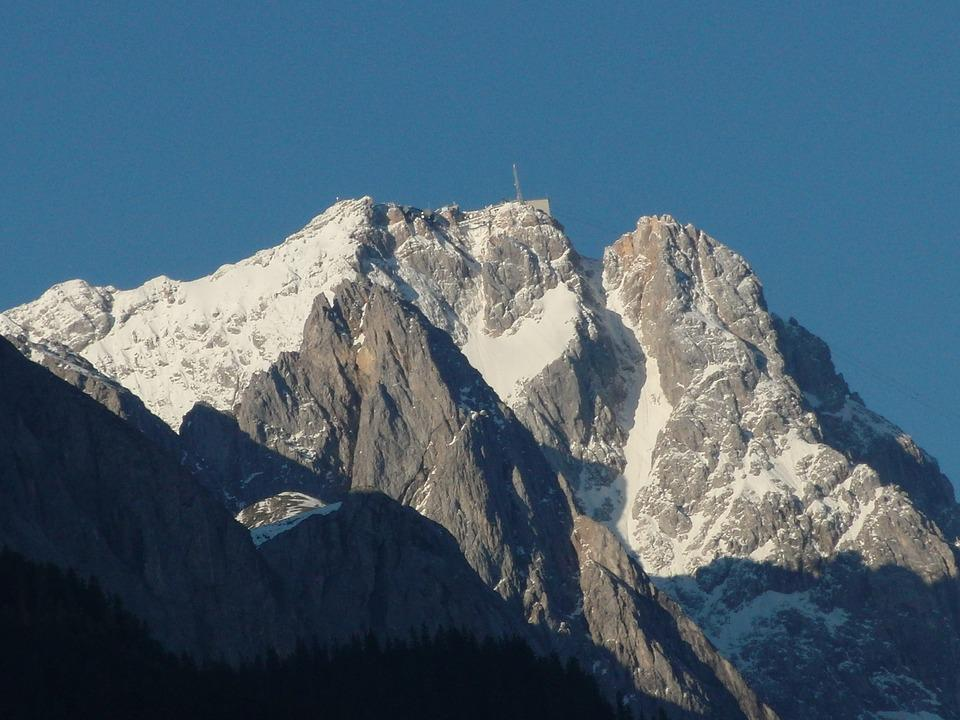 Zugspitze, Alpine, Mountains, Summit, Shadow Play