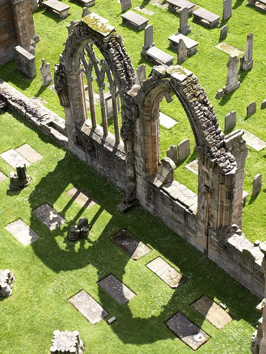 Scotland, Elgin, Cathedral, Ruin, Window, Arch, Shadow