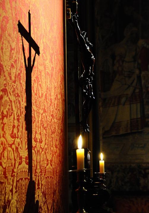 Christ, Shadow, Candle, Light, Spiritual Light