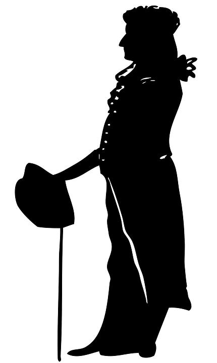 Man, Silhouette, Shadow, Studio Shot, Portrait