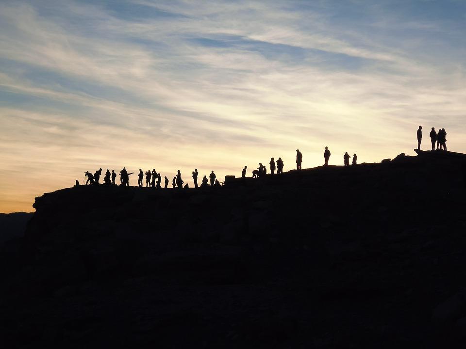 Sunset, Shadow, Lichtspiel, Landscape, Abendstimmung