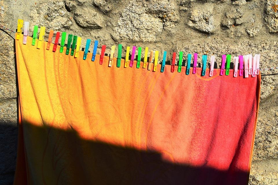 Sun, Drying Rack, Clothing, Colors, Tweezers, Shadow