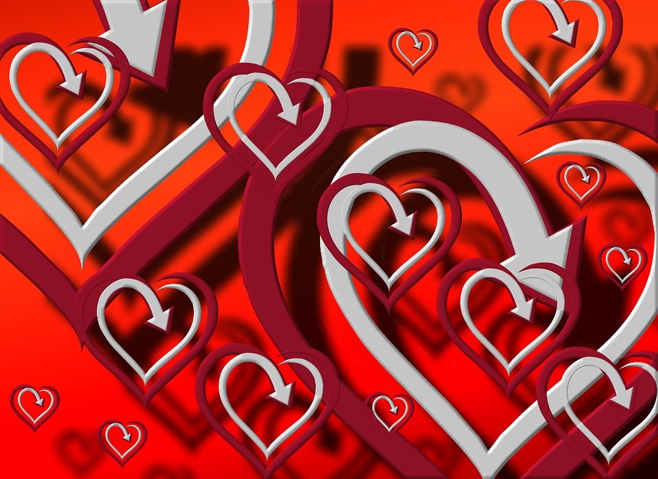 Heart, Pattern, Background, Shadow, Wallpaper, Many
