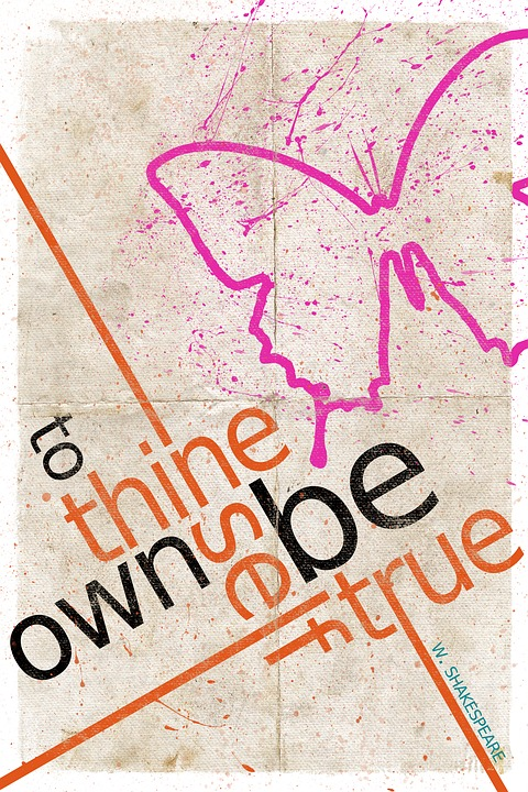 Poster, Quote, Advice, Thine Own Self, Shakespeare