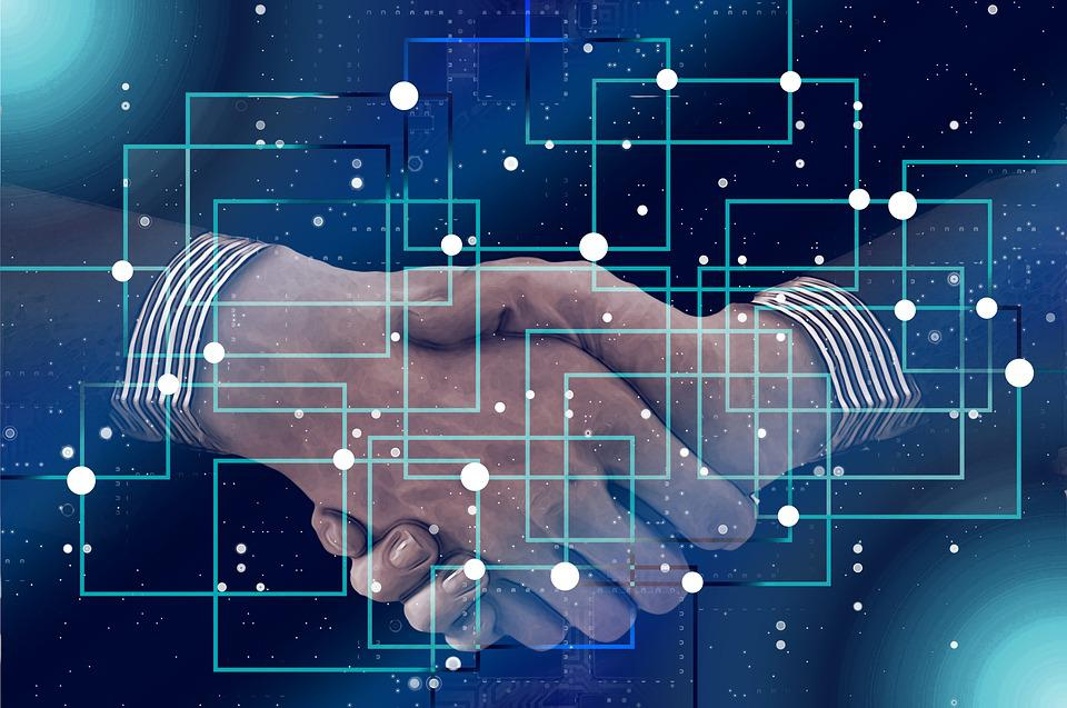 Block Chain, Personal, Shaking Hands, Handshake, Data