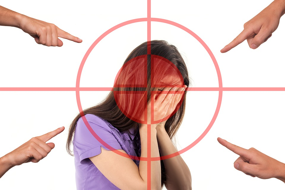 Bullying, Woman, Face, Stress, Shame, Arrows, Attack