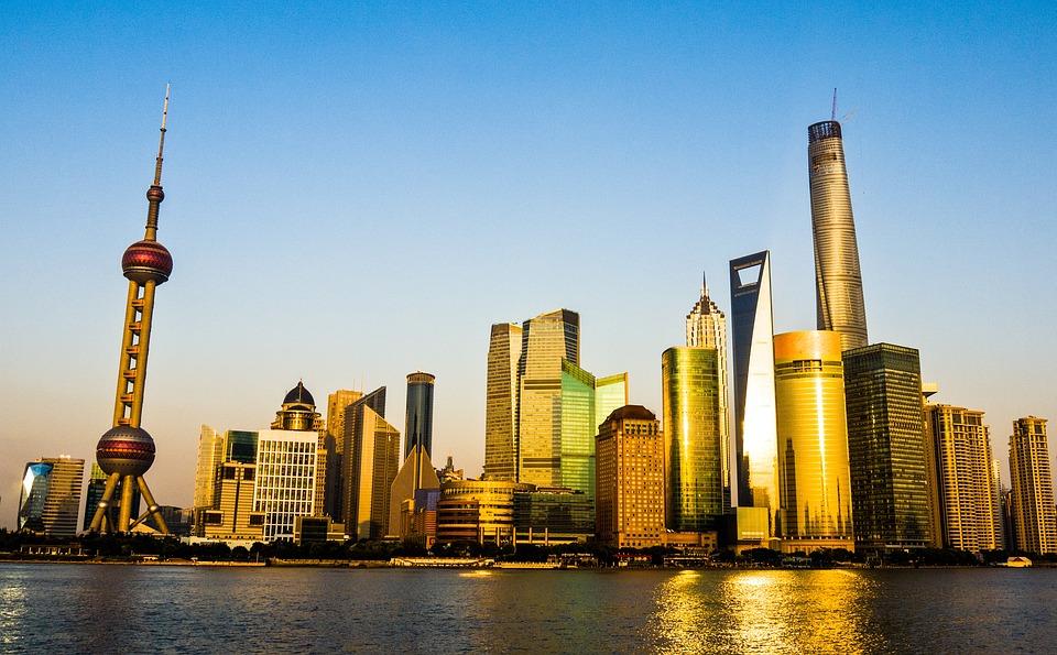 Pudong, Shanghai, China, Bund, Skyscraper, Tower, Sun