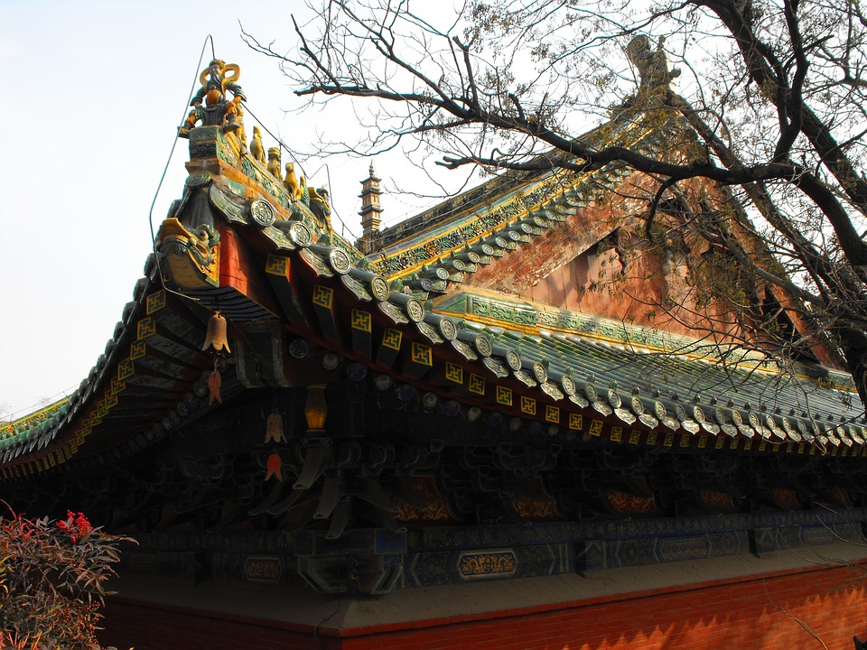 Shaolin, Chinese, Temple, Ancient, History, Roof
