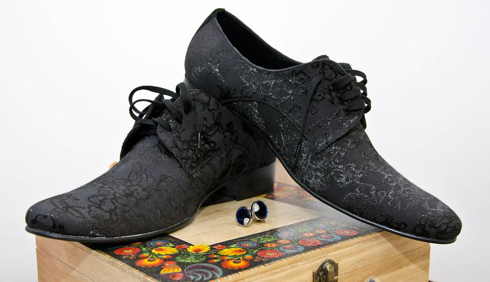 Shoes, Buttons, Groom, Shape, Footwear, Black, Creative