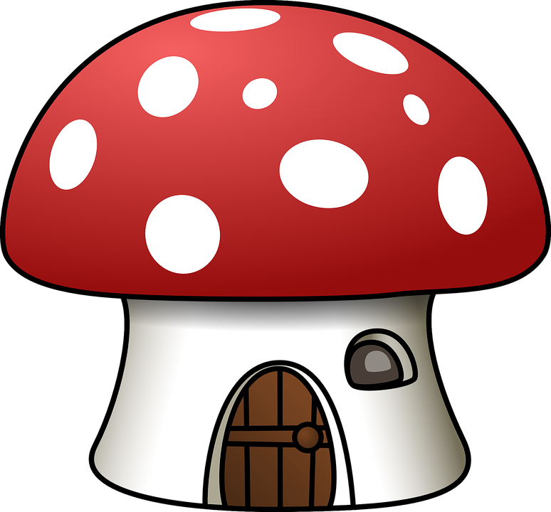 House Mushroom Red White Shape