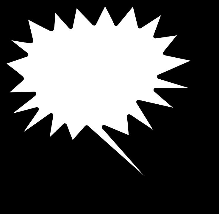 Speech, Bubble, Star, Shape, Symbol, Message, Sign