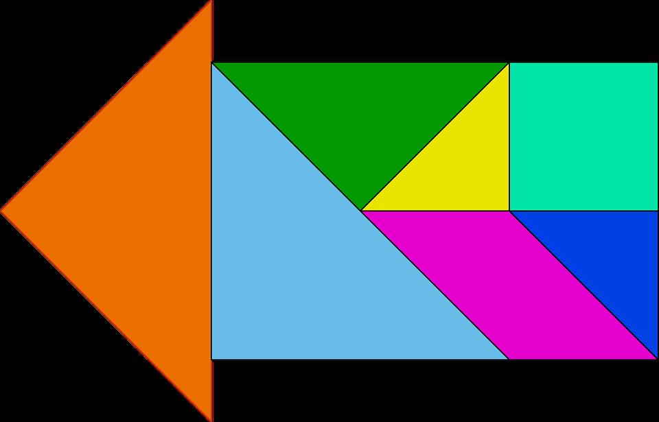Shapes, Arrow, Triangle, Chinese, Blocks
