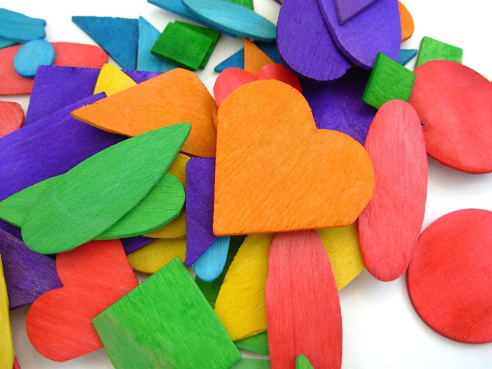 Toys, Wood, Shapes, Colorful, Play, Puzzle, Arts, Craft