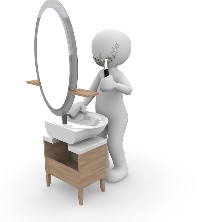 Mirror, Shaving, Shave, Bathroom, Shaver, Body Care