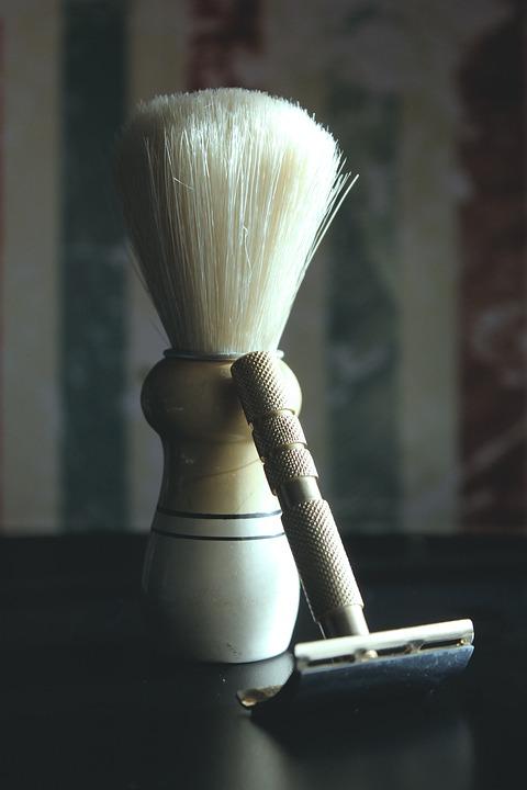 Razor, Shaving Brush Holders, Hair, Shaving, Retro, Old