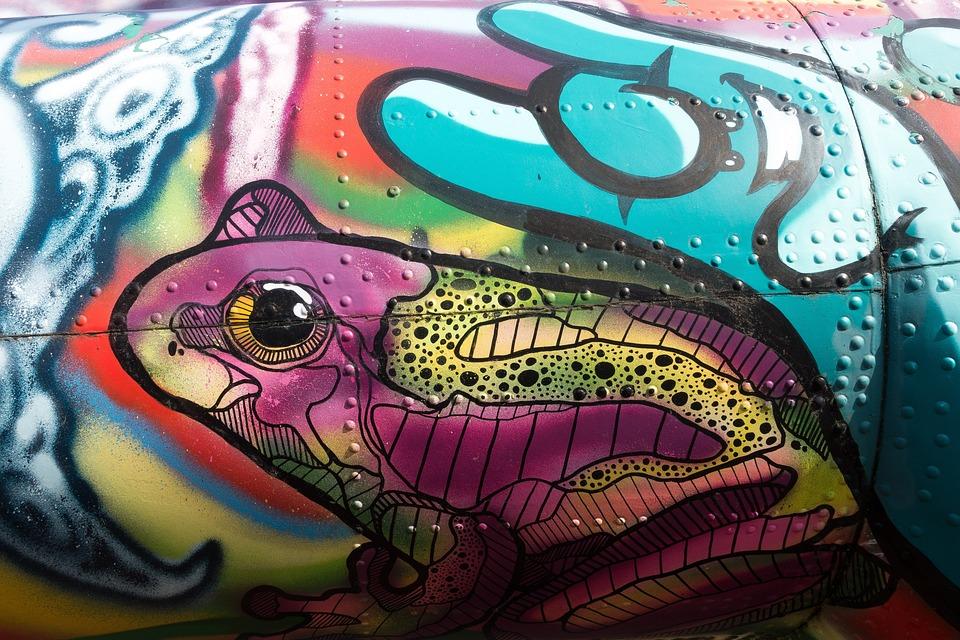 Graffiti, Helicopter, Object, Grunge, Sheet, Youth