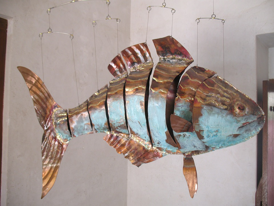 Fish, Artwork, Sheet, Metal, Metal Art, Sheet Metal Art