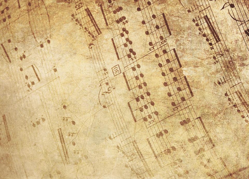 Music, Melody, Old Fashioned, Sheet Music, Notenblatt