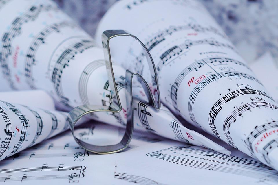 Sheet Music, Musical Note, Music, Metal, Steel, Figure