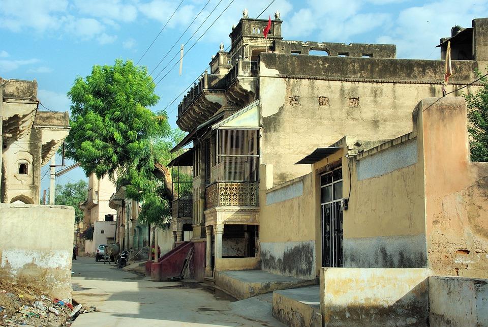 India, Rajastan, Shekawati, Mandawa, Architecture