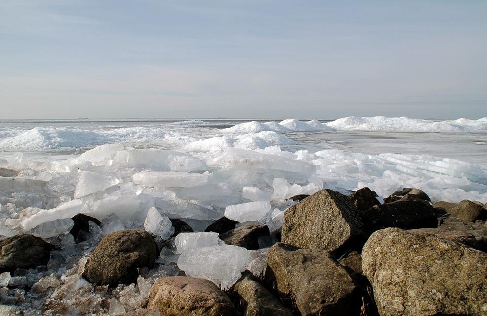 Nature, Ice Floes, Urk, Ijsselmeer, Shelf Ice, Frost