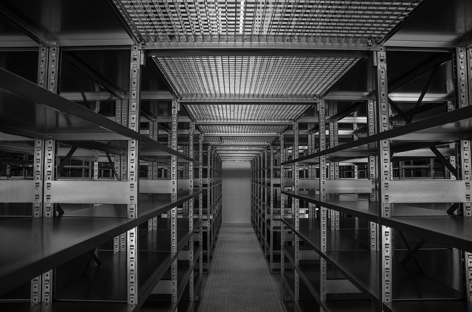 Industry, Shelf, Steel, Stock