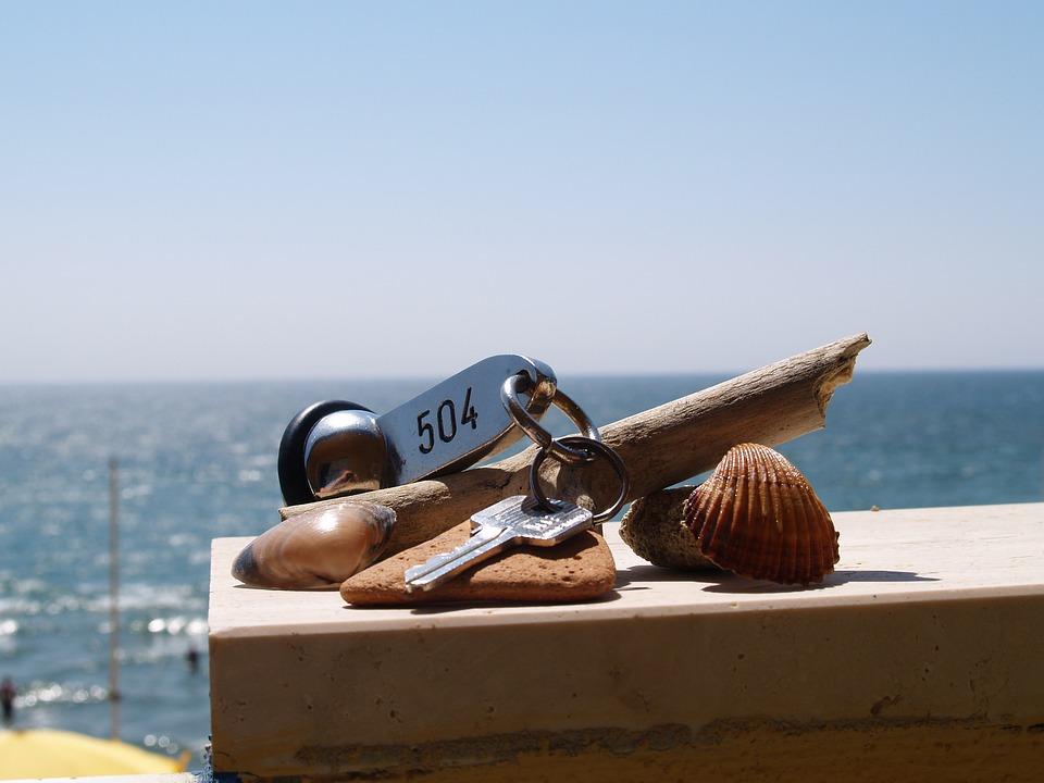 Hotel Room Key, Key, Room Key, Sea, Holiday, Shell, Sky