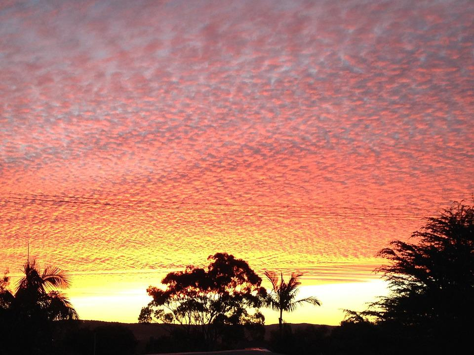 Sunset, Shelly Beach, New South Wales, Evening Sky