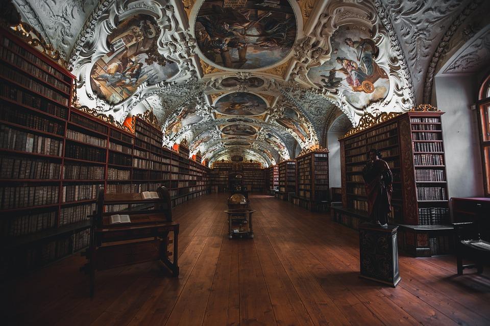 Books, Library, Shelves