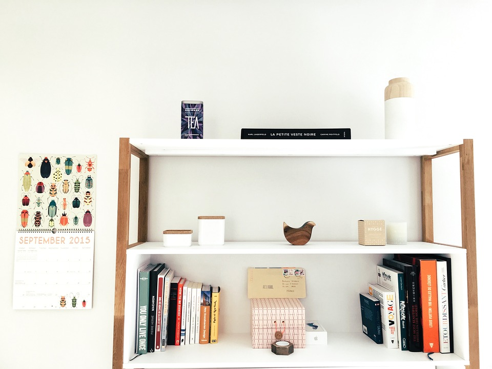 Furniture, Interior Design, Minimalist, Room, Shelves