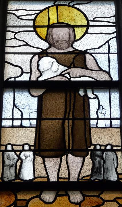 Church Window, Shepherd, Window, Stained Glass, Bible