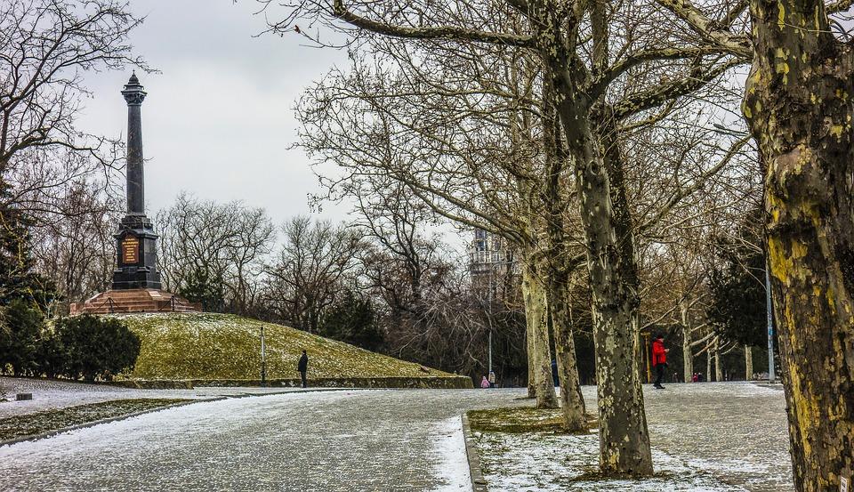 Odessa, Shevchenko Park, Post, People, Hill