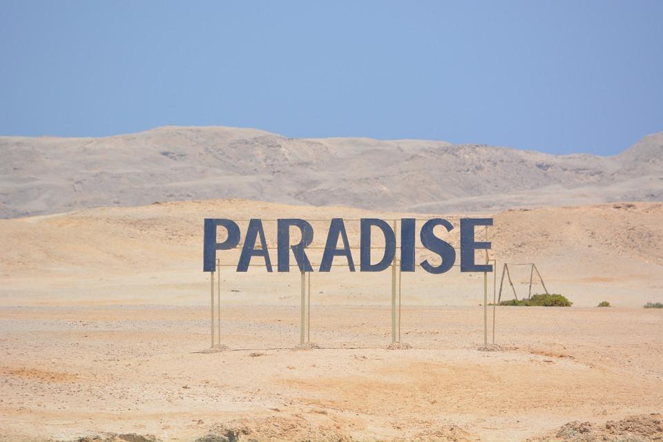Egypt, Beach, Paradise, Shield, Words, Letters, Desert