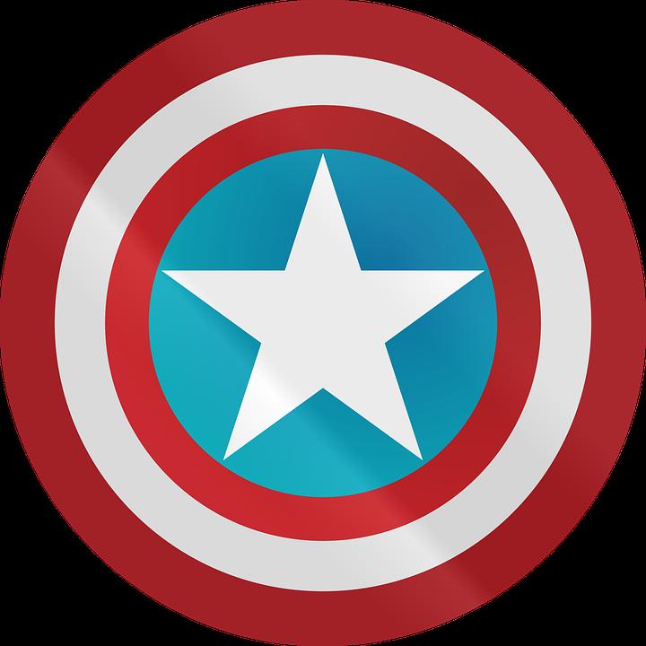 Captain American, Captain America, Shield, Icon, Logo