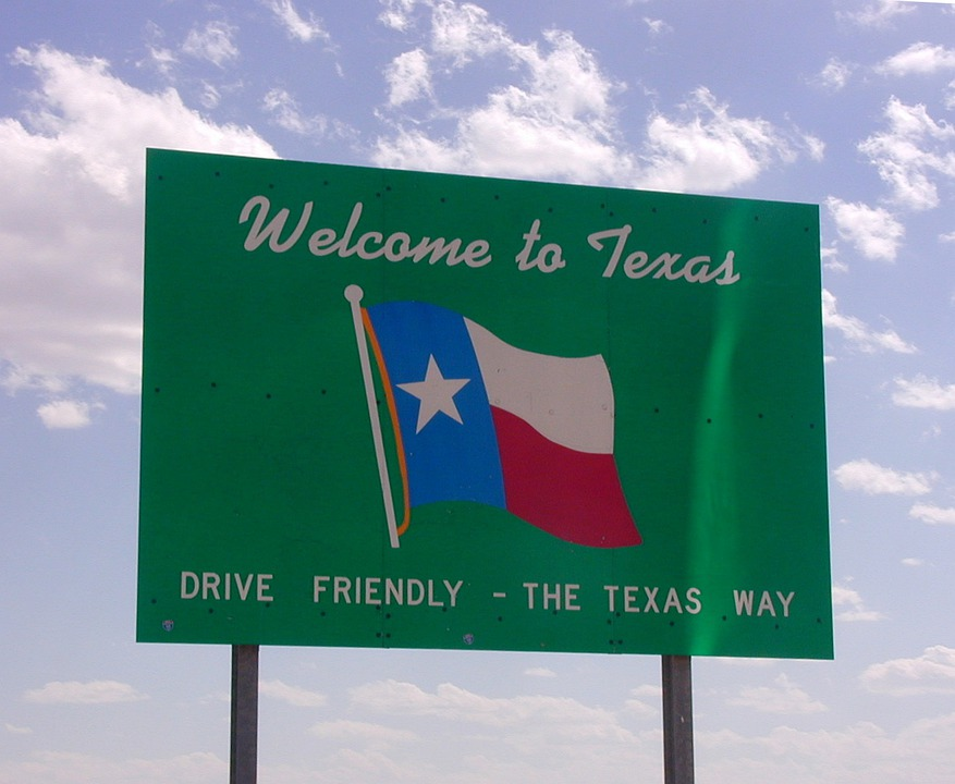 Texas, Usa, Welcome, Shield, Border
