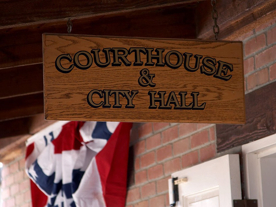 Courthouse, Justice, Shield, Town Hall