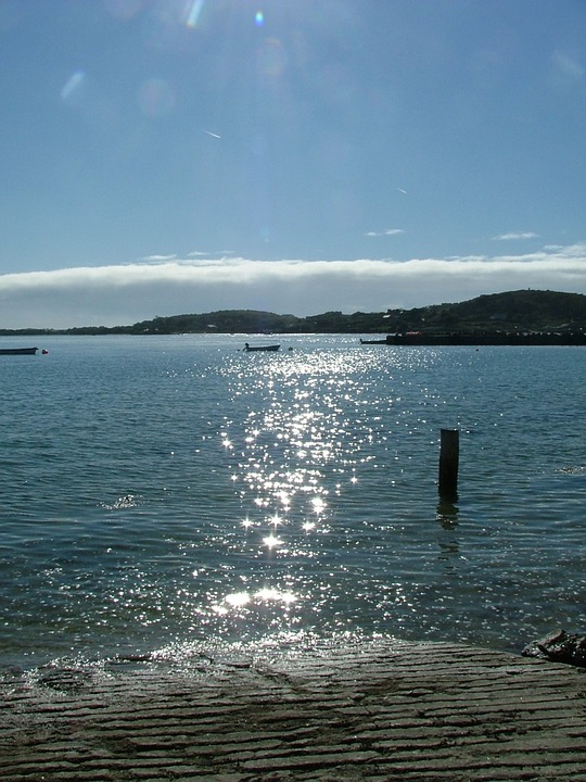 Scilly Isles, Tresco, Cornwall, Water, Shimmering, Post