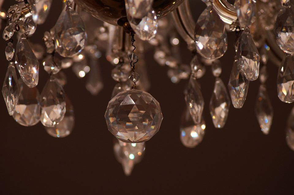 Chandelier, Glass, Crystal, Shining, Interior