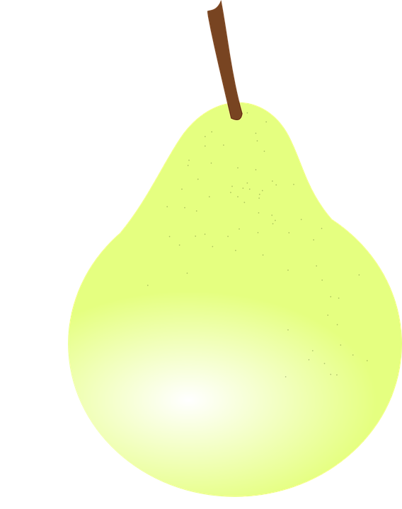 Pear, Fruit, Food, Green, Yellow, Shiny
