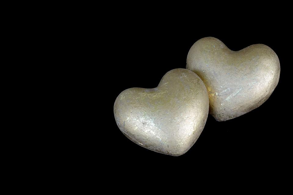 Heart, Golden, Love, Gold, Symbolic, Shiny, Stone Heart