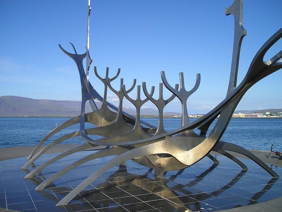 Art, Ship, Viking, Iceland