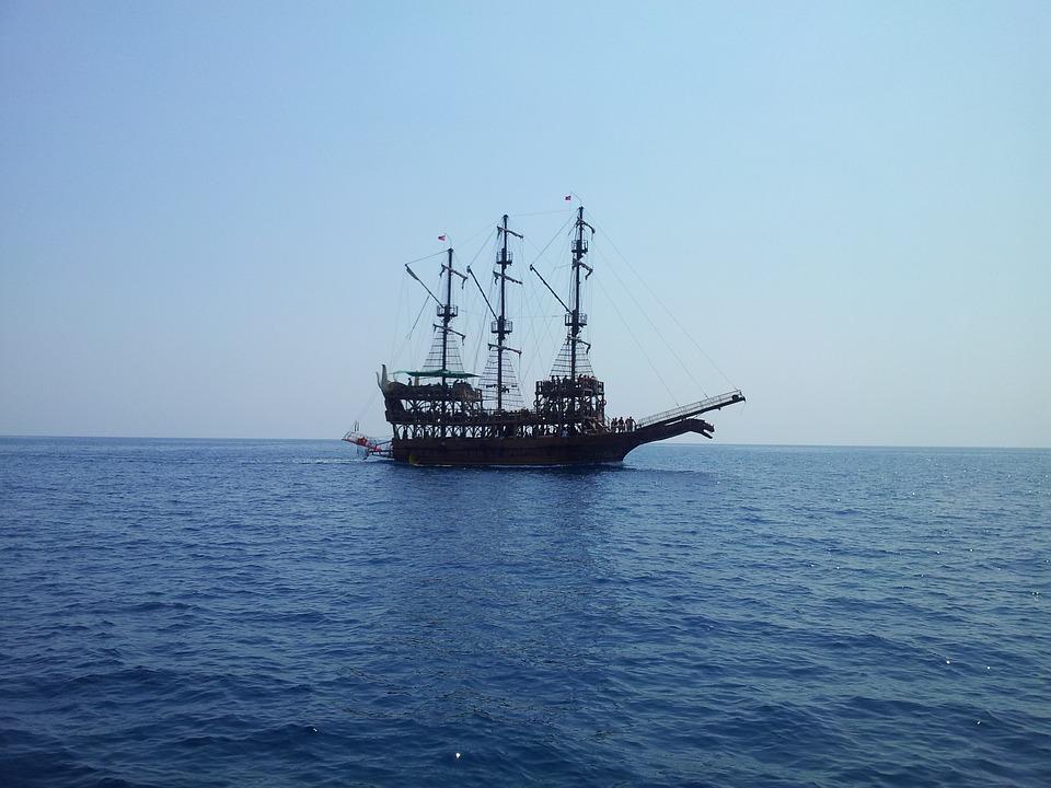 Ship, Sea, Boot, Water, Sail, Seafaring, Back Light