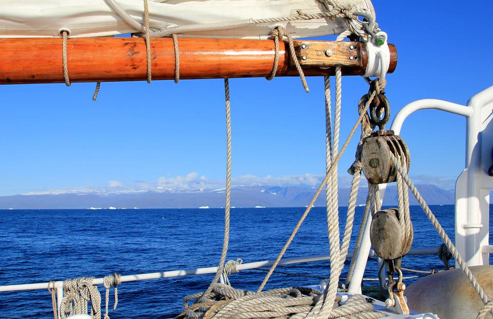 Sailboat, Ship, Boom, Block, Rep, Greenland