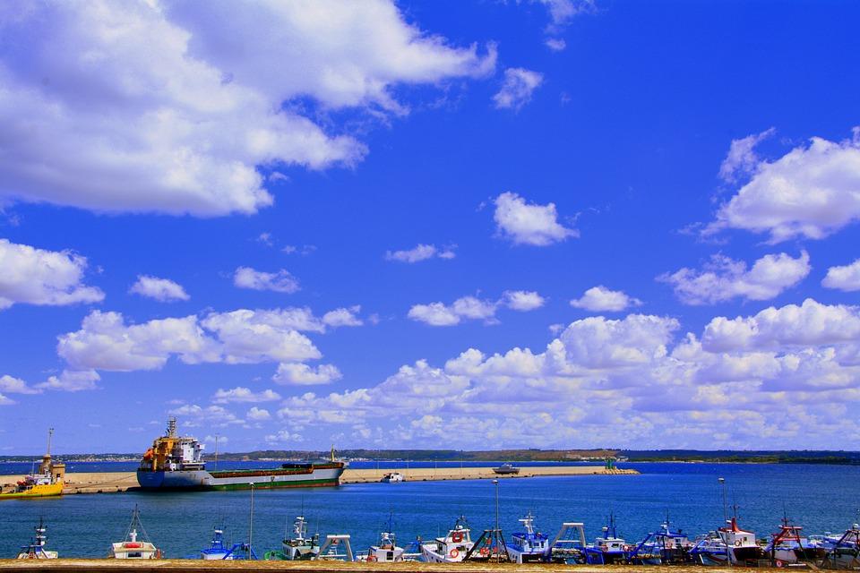 Porto, Clouds, Sky, Sea, Ship, Boat, Gallipoli, Salento