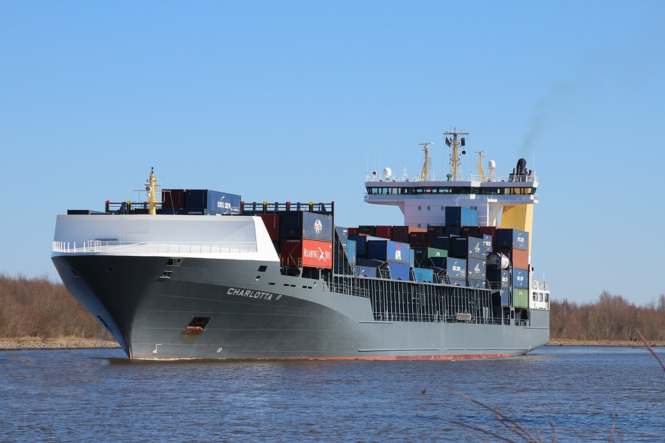 Container Ship, Ship, Freighter, North America