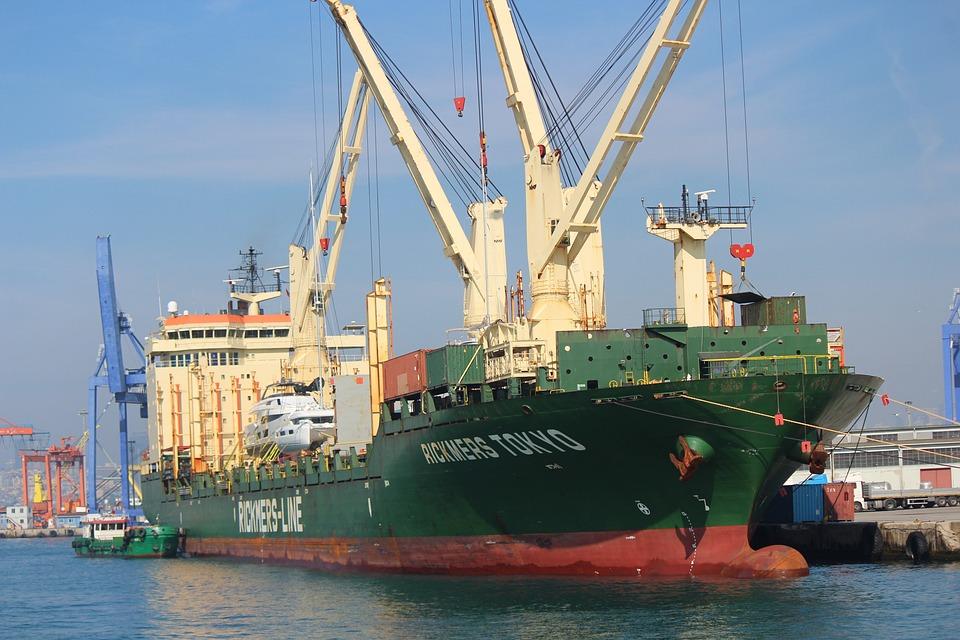 Ship, Luxury, Marina, Port, Customs, Shipping, Crane