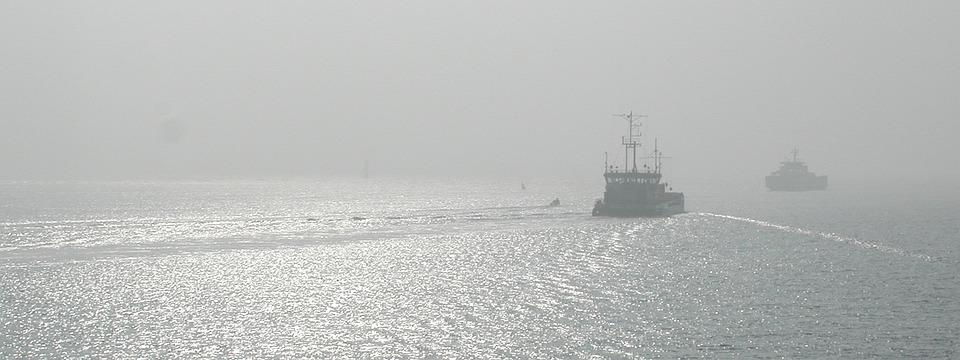 Ferry, Sea, Ship
