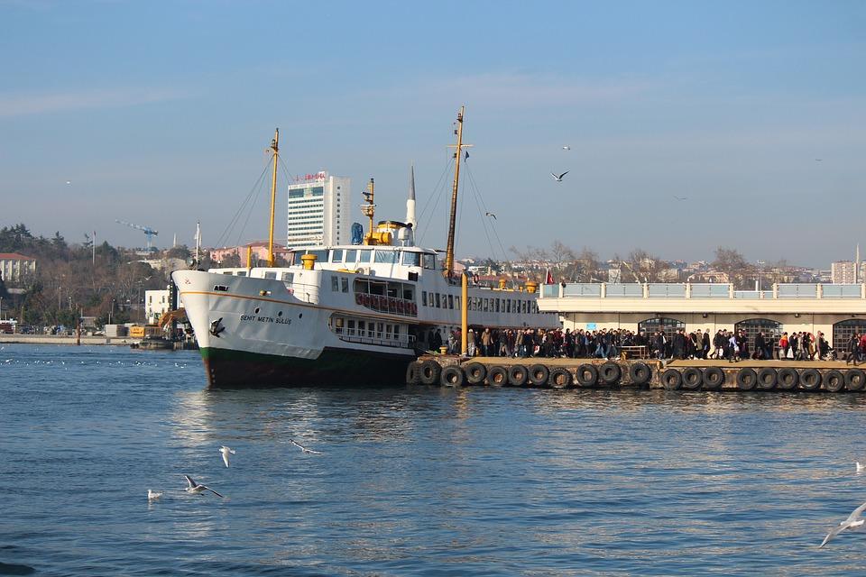 Ship, V, Iskele, Passenger, Marine, Clouds, Landscape