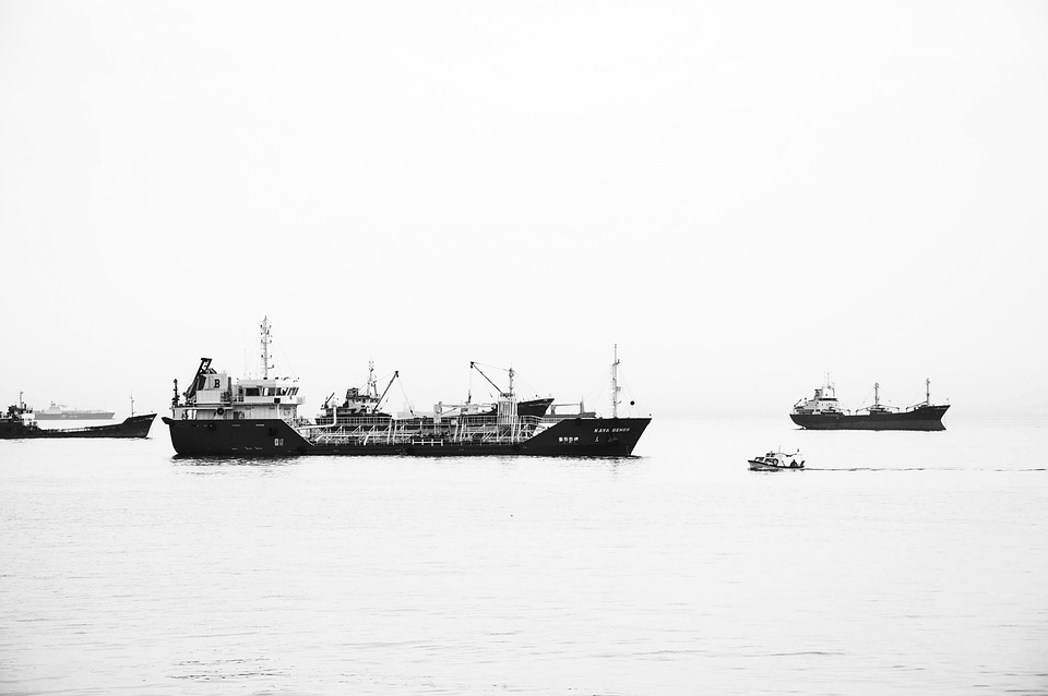 Ship, Sea, Outdoor, Black And White, Istanbul, Turkey
