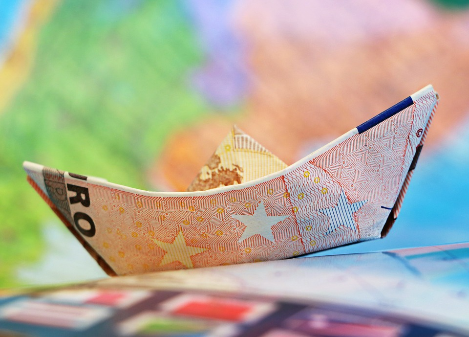 Euro, Ship, Money, Sailboat, Origami, Map, Finances